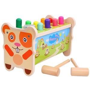 大号打地鼠幼儿童益智敲琴动物带音乐敲击宝宝木质智力1-6岁玩具
