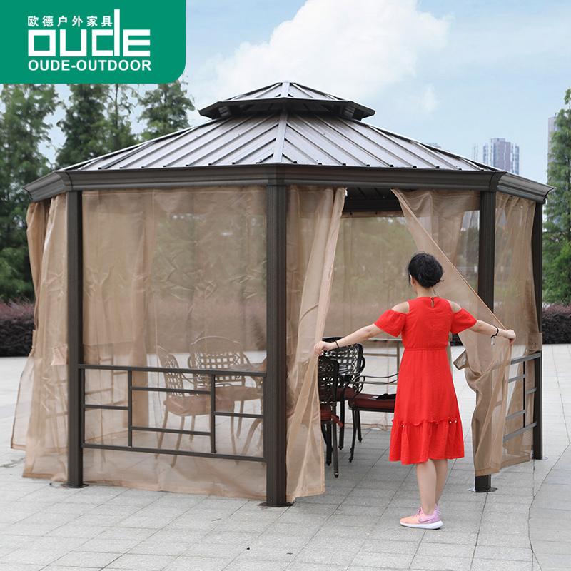 欧德户外凉亭庭院花园遮阳棚罗马帐篷别墅活动休闲篷室外豪华亭子