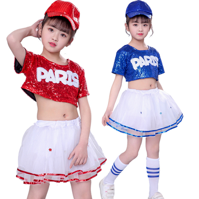 Children's Performing Dresses Jazz Kindergarten Sequins Dance Dresses Modern Dance Performing Dresses Pengpeng Skirt
