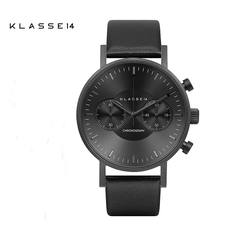 KLASSE14意大利设计大盘计时码时尚男女士石英手表皮带简约腕表