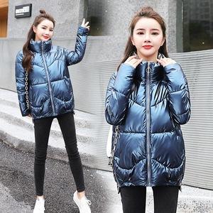 2020新款棉衣女短款时尚亮面原宿学生棉服加厚韩版小个子保暖外套