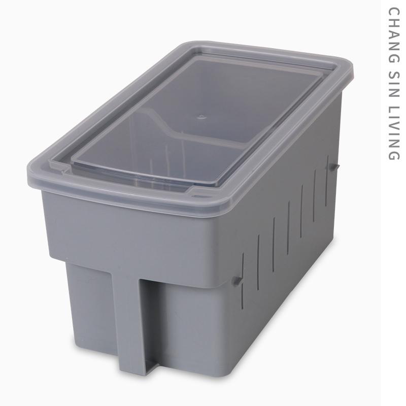 带手柄有盖杂物收纳盒 带隔板冰箱收纳盒韩国进口 ChangSinLiving