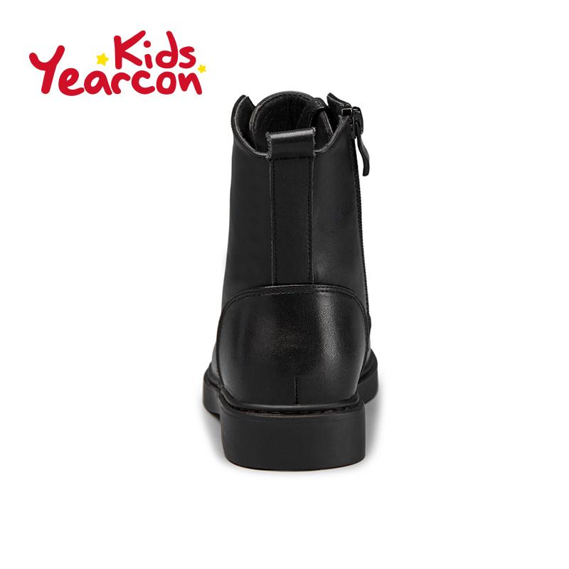 意尔康童鞋2016冬季新款保暖马丁靴短毛绒短靴中小童女童系带靴子产品展示图5