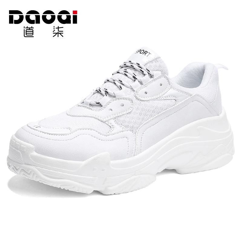秋季潮鞋ins超火的鞋子白色运动鞋休闲小白鞋厚底情侣老爹鞋男鞋