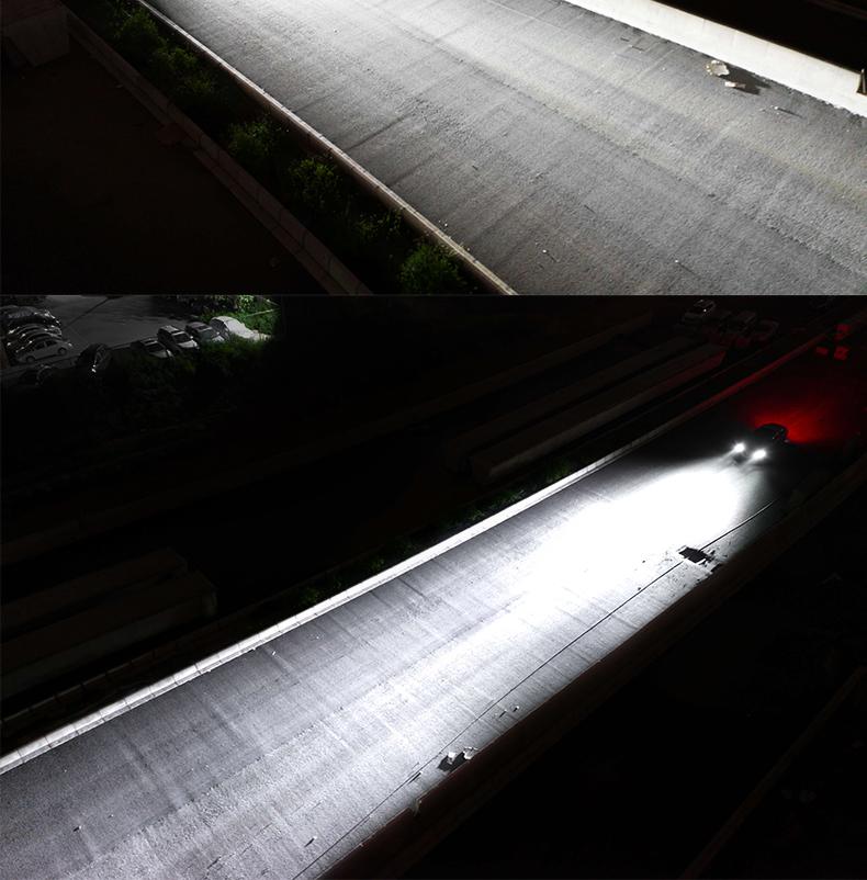 汽车led大灯h7h1h4远近一体9012改装55WH11超亮远近光灯泡led大图片七