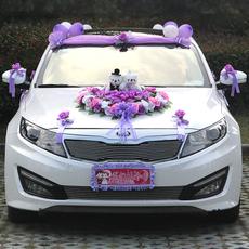 Свадебные цветы для украшения автомобиля E3