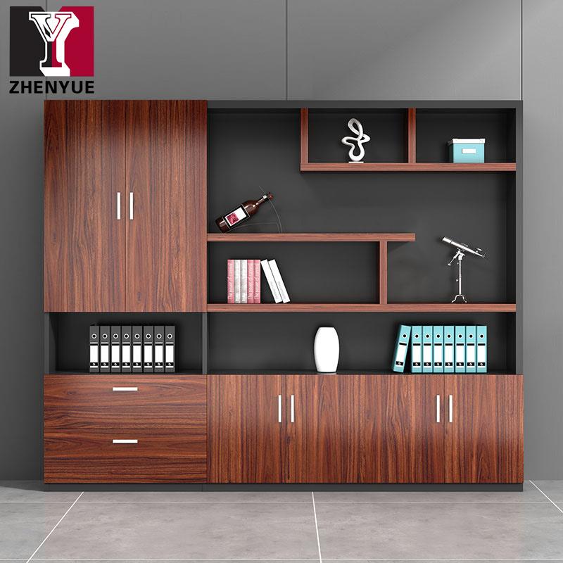震悦办公家具文件柜背景柜办公室档案资料储物书柜组合木质落地柜