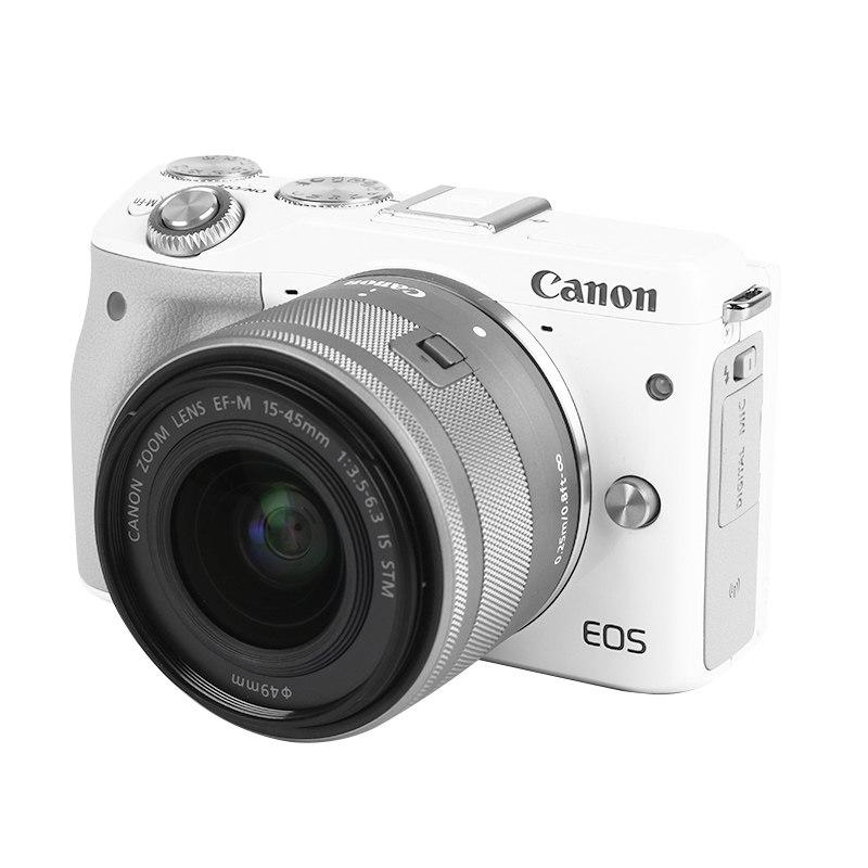 实在山东人 佳能eos M3 15-45套机 微单相机入门级微单反数码高清旅游女生 性价比高 清仓单反照相机 白色 m3