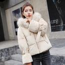 2018新款韩版金丝绒羽绒棉服女短款chic棉衣加厚大码bf面包服棉袄