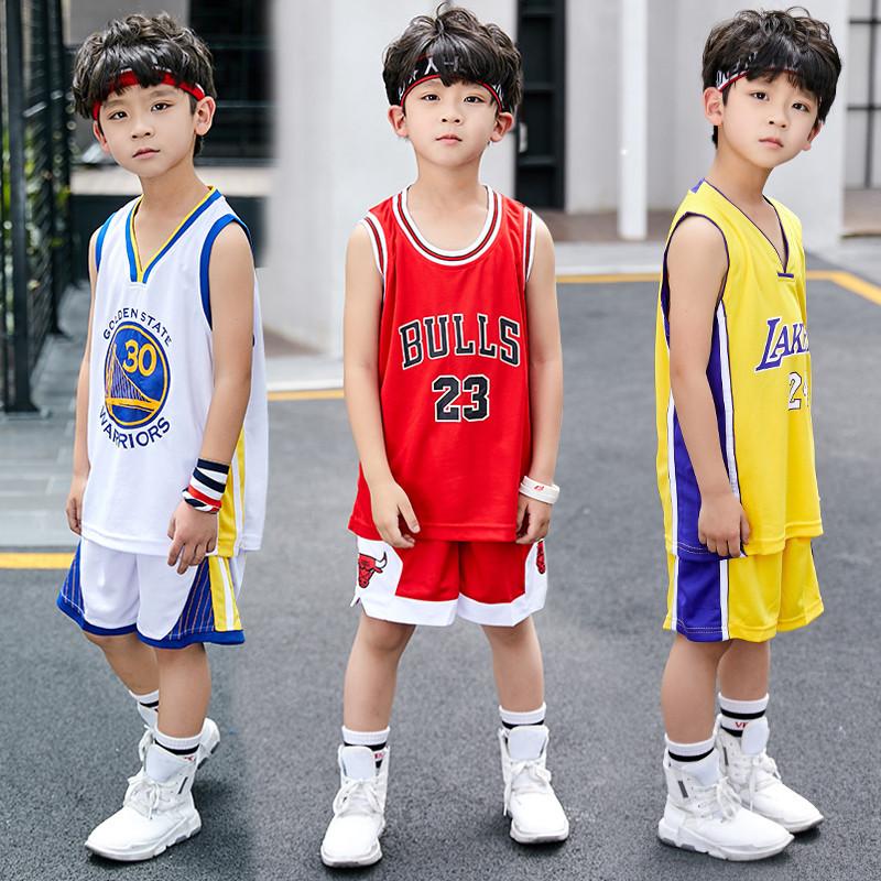 火箭哈登球衣乔丹儿童篮球服套装男童幼儿小学生勇士库里骑士科比
