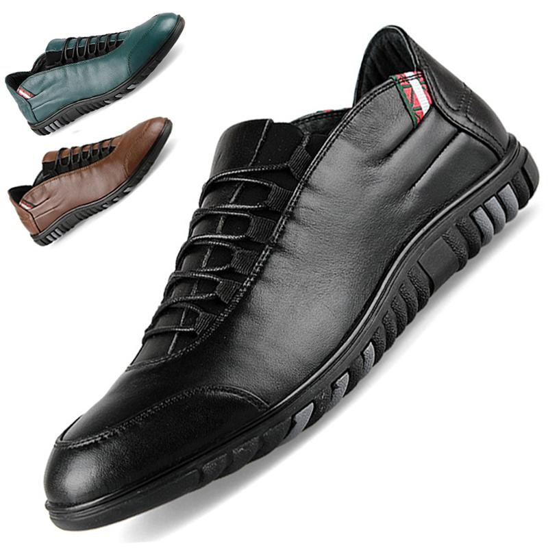 英伦男鞋豆豆鞋日常休闲鞋真皮软底时尚潮流单鞋小码36 37男皮鞋