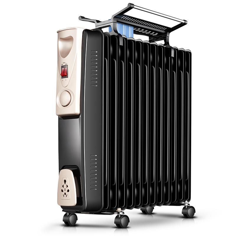 美菱油汀电暖气取暖器家用油丁13片节能省电暖炉电热式办公电暖器