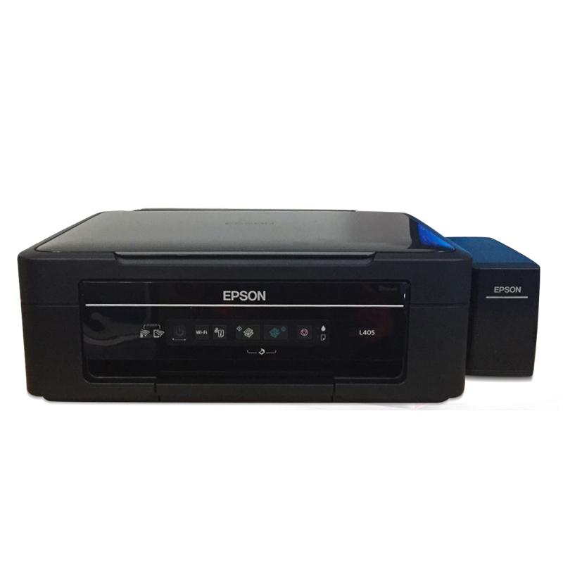 爱普生L405彩色喷墨无线WIFI打印机一体机多功能复印扫描代替L385