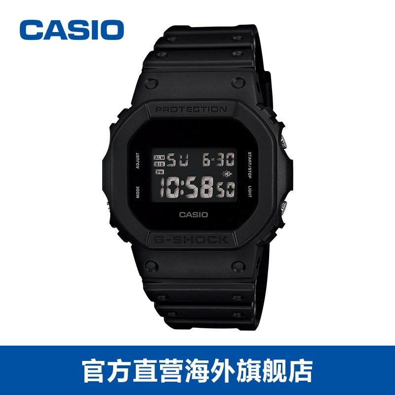 卡西欧G-SHOCK手表DW-5600BB-1运动手表数字显示潮流防水腕表