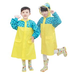 儿童雨衣加厚防水带书包位男童女童幼儿宝宝小学生卡通雨披