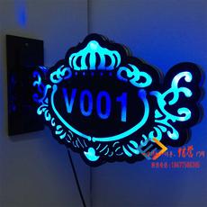 Табличка на входную дверь LED Ktv