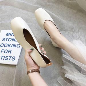 单鞋女平底奶奶鞋2019潮鞋夏季新款百搭豆豆鞋孕妇鞋女护士鞋软底