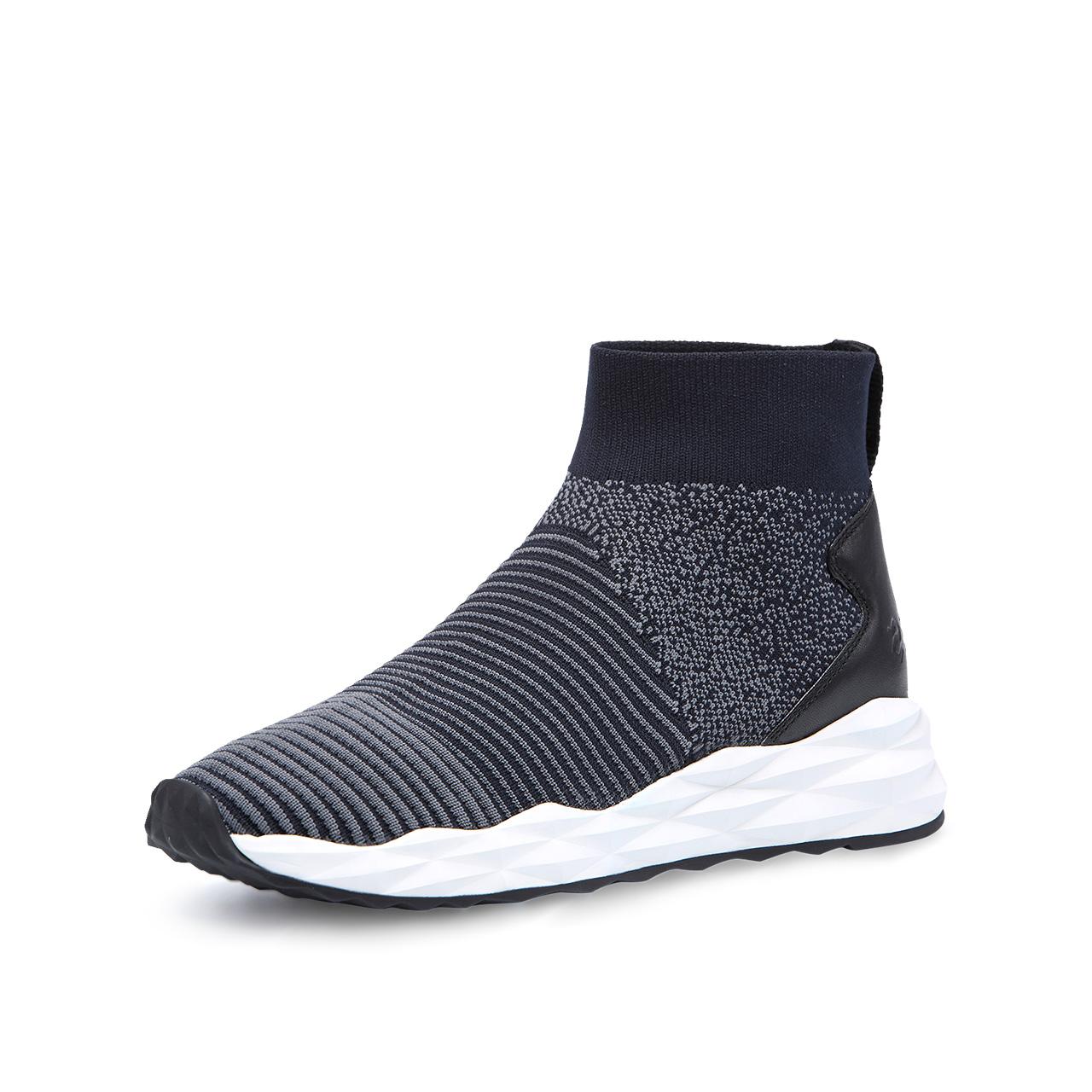 ASH男鞋2018秋季新款SCRATCH系列拼色袜套休闲运动鞋高帮鞋情侣款