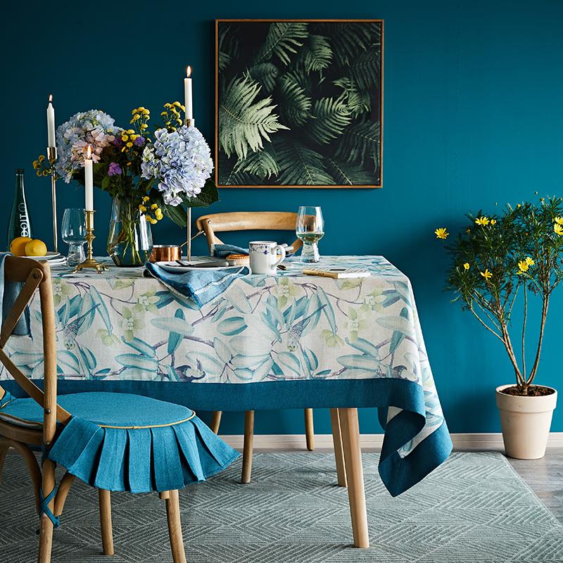 蜡笔派美式茶几桌布布艺棉麻小清晰桌垫欧式ins风餐桌布北欧台布