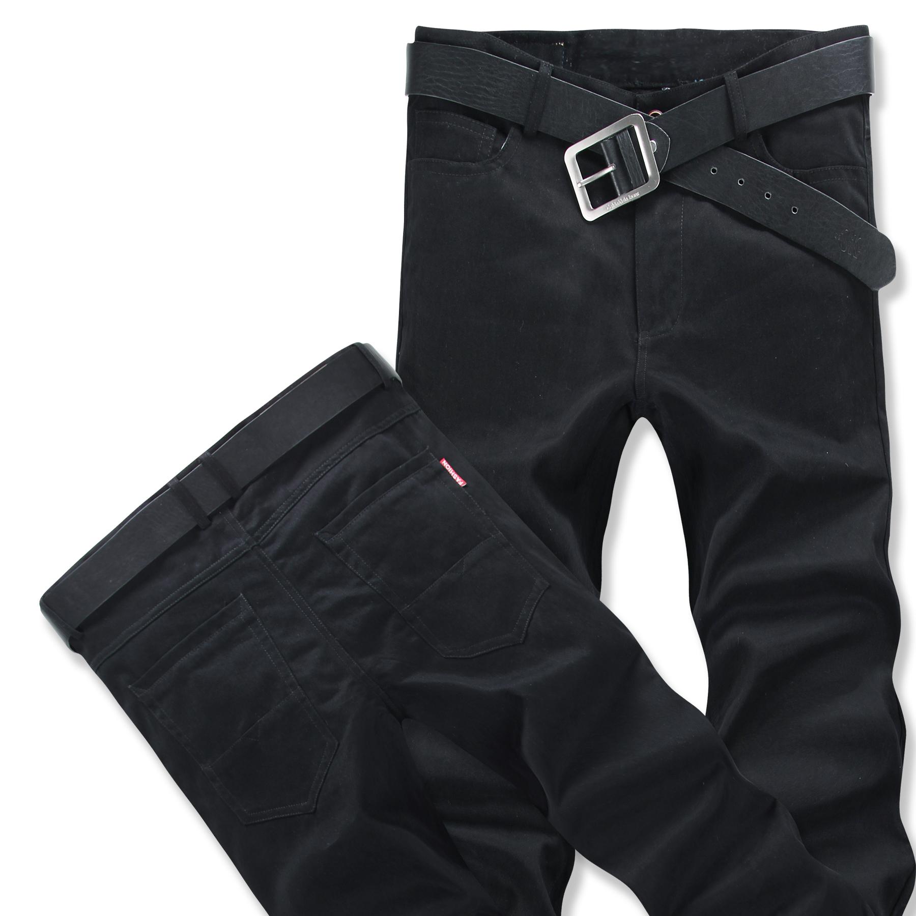 enperse/弗恒韩版男士休闲裤纯色青年工装裤长裤大码纯棉裤子