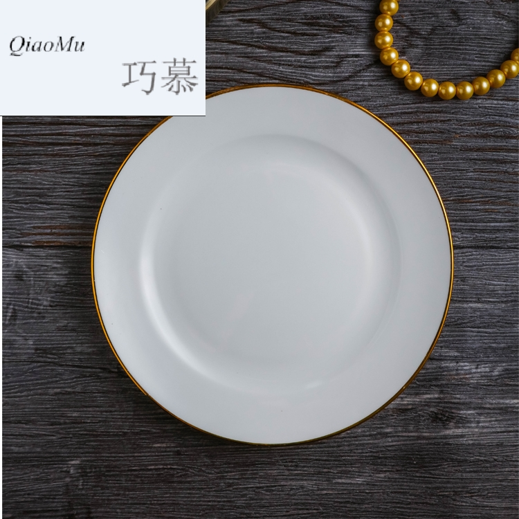 Qiao mu jingdezhen porcelain Chinese costume ipads ceramic tableware set of ipads plate dish bowl of small spoon up phnom penh table can be LO