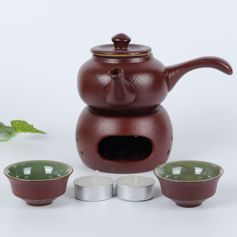 Qiao mu Japanese antique based cooking kettle temperature wine pot a pot of two cups of kung fu tea side to pot based ceramic