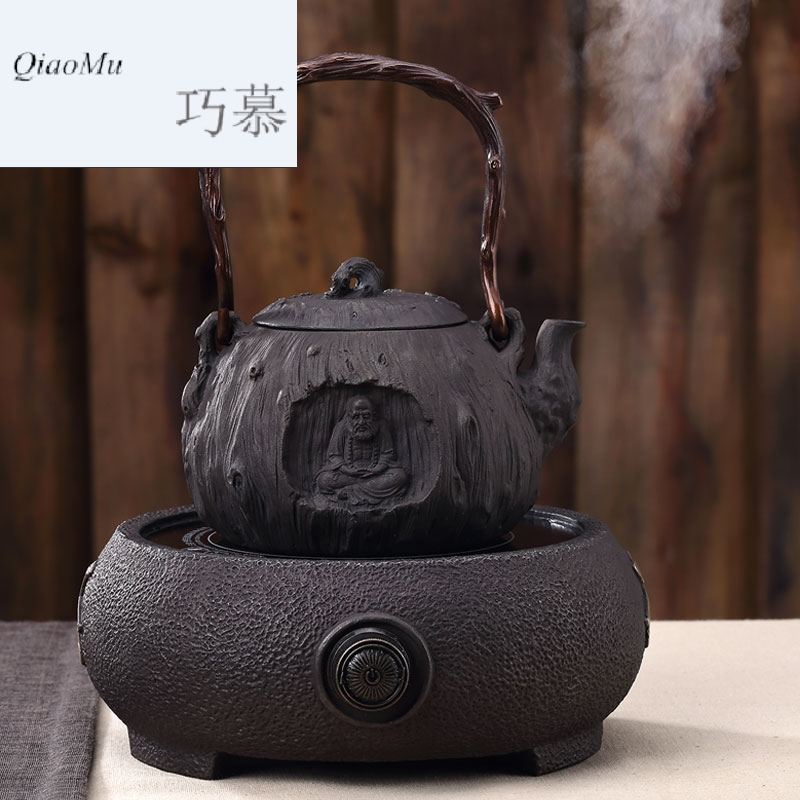 Qiao longed for raising pig iron pot of cast iron tea kettle boil tea machine electricity TaoLu burn boiling kettle cast iron pot of tea