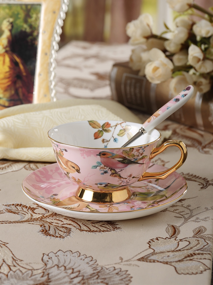 Qiao mu high - class European - style ipads porcelain coffee cup suit creative ceramic up phnom penh afternoon tea tea cup with a spoon