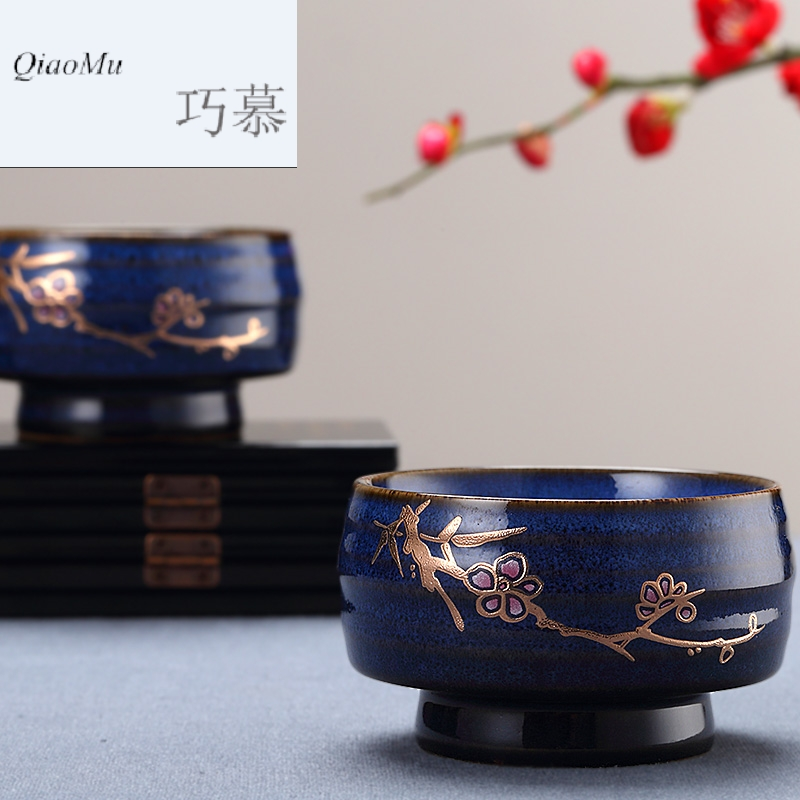Qiao MuFengZi Taiwan ceramic cups small household teacup full cup kung fu tea set variable single CPU master CPU