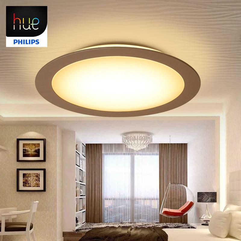 飞利浦Hue吸顶灯睿晨灯具圆形客厅灯卧室餐厅现代简约LED智能照明
