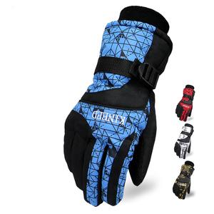 北纬35手套男女士冬季保暖加厚防风防水防寒棉摩托骑行车滑雪冬天