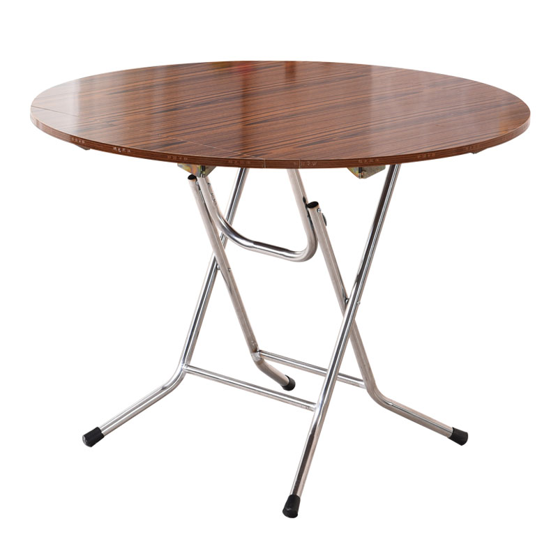 Folding round table simple can eat table small apartment square table solid wood large round table round folding table home