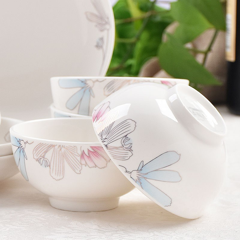 The kitchen upset against The hot six pack 4.5 in Japanese household bowl of rice bowl bowl of soup bowl bowl ceramic bowl set of tableware