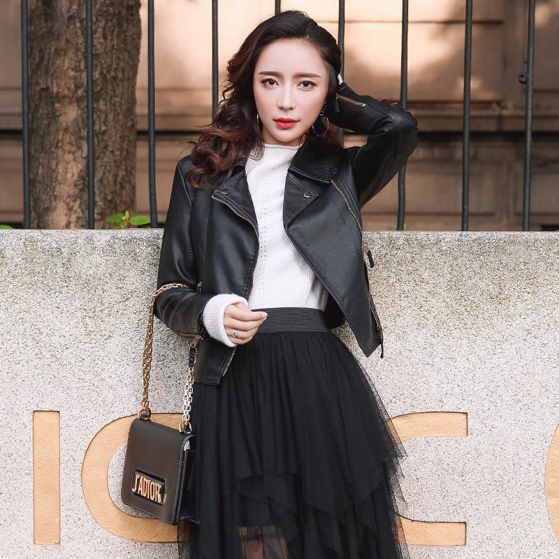 2019春秋女装新款皮衣女短款韩版百搭显瘦机车pu皮小外套皮夹克潮