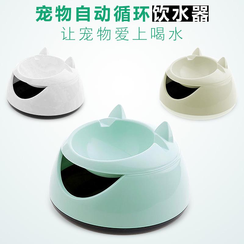 猫咪流动饮水机喝水器饮水器猫用喂水器自动循环活水机猫水盆水碗