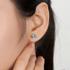 莉萨珠宝 1.85克拉天然瑞士蓝托帕石耳钉18K金宝石耳环 彩宝耳饰