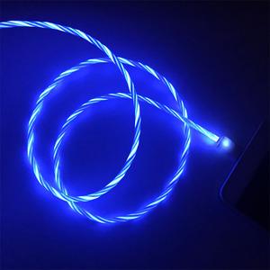 新款苹果流光数据线 安卓type-c发光数据线 抖音同款跑马灯快充线