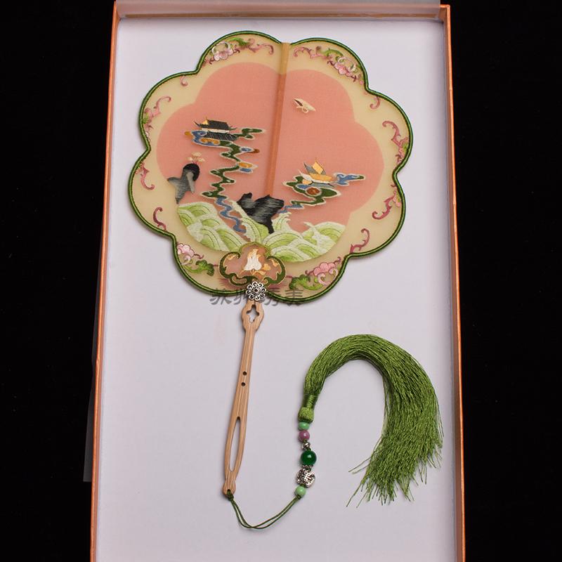 苏州绣美中国风苏绣团扇