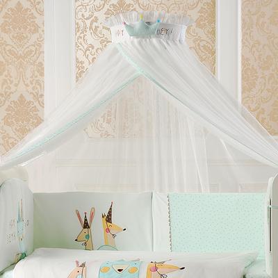 弗贝思 婴儿床蚊帐带支架儿童宝宝蚊帐落地开门式婴儿蚊帐罩通用