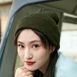 【缇米芬】帽子黑色针织毛线帽子