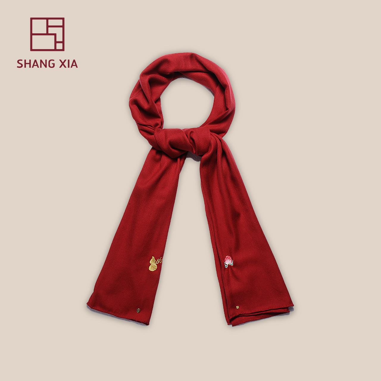 「上下」 陈漫合作款赤焰黑系列丝绒围巾SHANGXIA