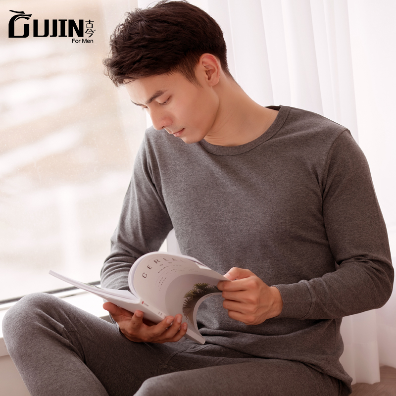 中华老字号 古今 纯棉 男式保暖内衣套装 天猫优惠券折后¥59包邮(¥99-40)多色可选