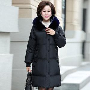 40-50岁时尚中年妈妈装冬装新款棉服外套中老年女装中长款棉衣