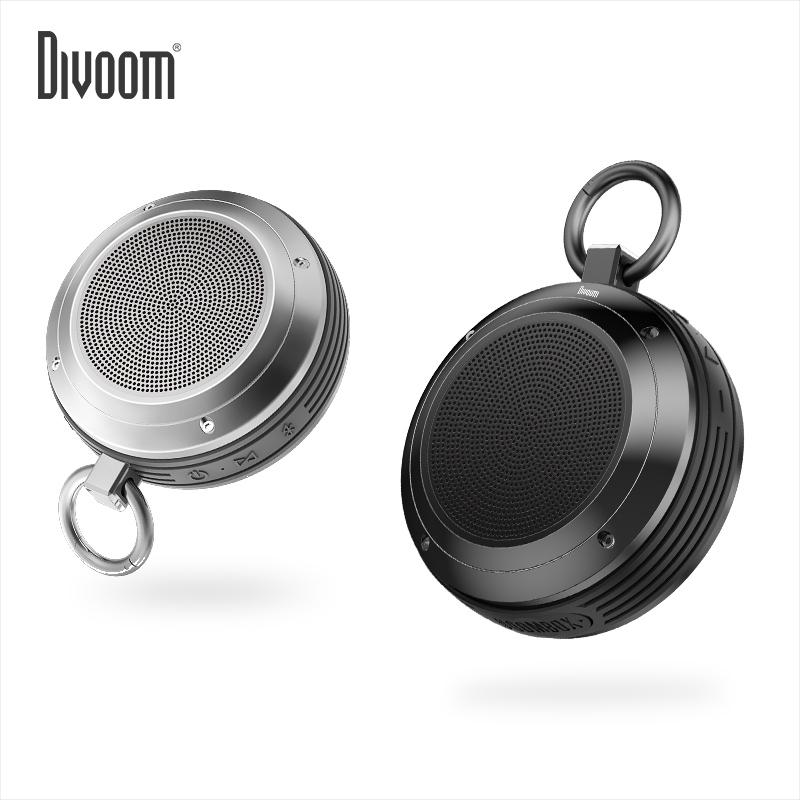 Divoom-地纹 Trek4 防水蓝牙小音箱音响随身插卡便携式户外迷你3d环绕低音炮超重低音大音量车载户外骑行运动