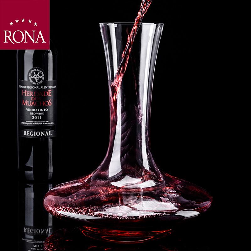RONA洛娜门多萨平口斜口醒酒器 水晶玻璃酒店家用葡萄酒换瓶醒酒