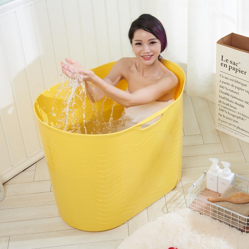 全身折叠洗澡盆浴桶成人泡澡桶家用加厚塑料大人婴儿宝宝游泳桶