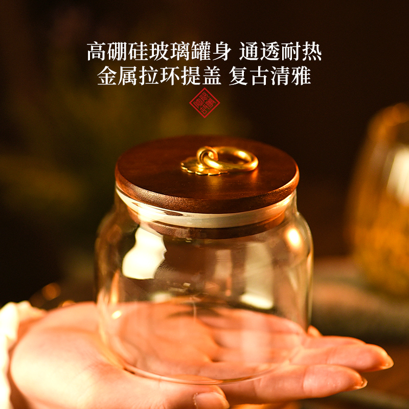 Ceramic tea pot story glass small portable household mini storage seal pot with cover is received