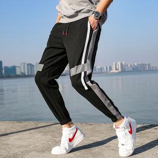 ERRAGE 抖音超火的裤子男韩版潮流运动裤男 春季新款宽松休闲裤男