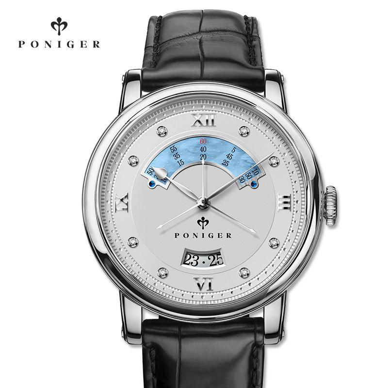 宝路尼男士手表防水时尚款2018新款机械表男表全自动真皮正品腕表