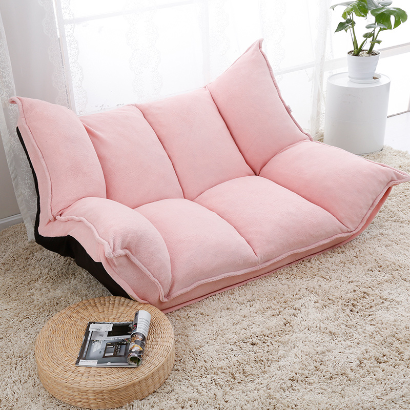 Japanese style lazy sofa single folding living room fabric small ...